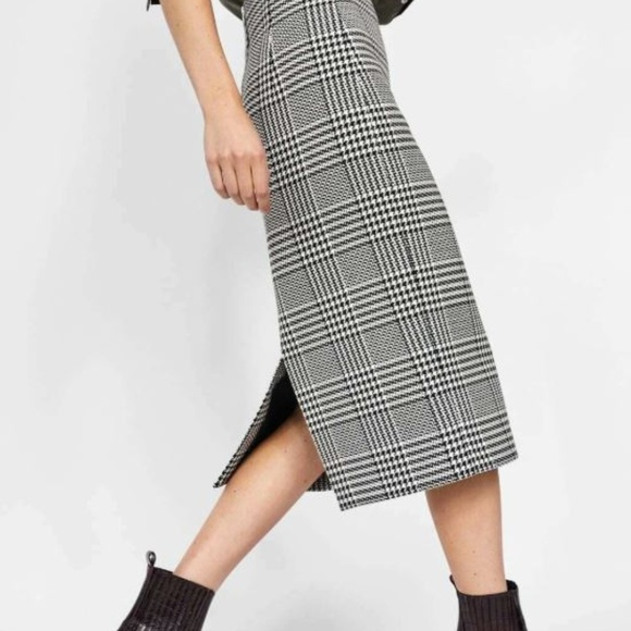 Zara Dresses & Skirts - Plaid High Waist Pencil Skirt | Zara